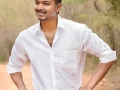 Puli Movie Actor Vijay in White Shirt & Dhoti Photos