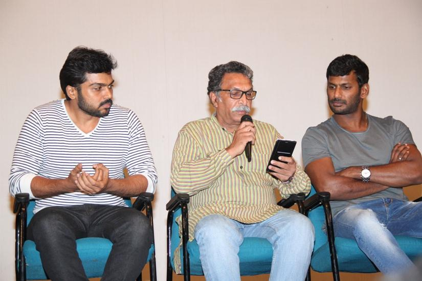 Vishal new press meet Exclusive stills