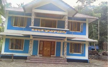 1800 Sq ft Kerala style home