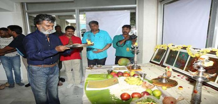 Rajani kanth New Movie Kabali Pooja