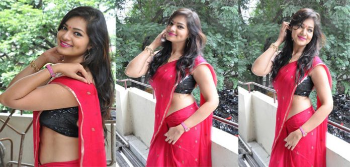 Tamil actress ashwini hot in red saree